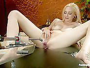 Home Alone And Horny: Machine Fucking A New Girl