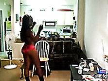 Amateur Ebony Girlfriend Shakes Her Juicy Ass In Front Of A Came