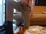 Brand New Beige Pier One Suit,  Pink Shirt&tie+Black Goldtoes