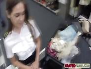 Lovely And Sexy Latina Steward Gets Pawned Hardest