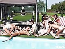 Pool Party 2 Guys And 5 Czech Girls Teenrs. Com