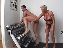 Goddess Heather,  Viveca Strong;strap On Champion Workout - Scene
