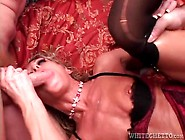 Huge Load Of Cum Leaks From Fucked Mom Pussy