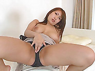 Japanese Babe Wears Sexy Black Panties While She Rubs One Off