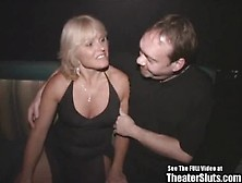 Wild Anal Milf Theater Gang Bang!