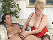 Blonde Granny Elvira In Hot Lingerie Sucks A Cock And Screws Har