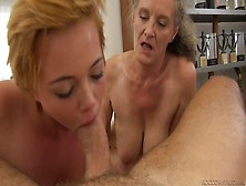 Dude With Thick Dick Fucks Old Bitch And Pretty Young Chick