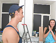 Working Guy With A Big Cock Throat Fucks A Couple Of Teens