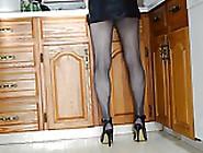 Micro Mini Skirt,  Pantyhose And High Heels