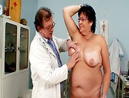 Chubby Granny Tatana Gets Her Asshole Poked With Stick