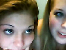 Two Light Haired Pretty Webcam Lesbos Posed For My Friend Just A