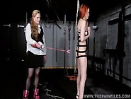 Suspended Lesbian Whipping And Strict Lezdom Bondage Of Spanked