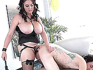 Beverly Paige's Shaved Pussy Gets Pounded With A Naughty And Hot