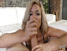 Beautiful Blonde Milf Takes Care Of Pov Dick