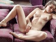 Beautifule Blonde Hottie Moaning As She Rubs Her Twat.