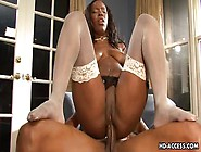 Lady Armani With A Round Booty Taking A Fat Black Cock In All He