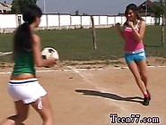 Sporty Slim Teens Make Out And Strip Outdoors