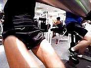 183 Freeballing Nylon Shorts Cock Out Hotel Gym Pool