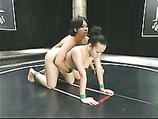 Dragon Lily And Chyna White Wrestle Attacking Each Others Shaved