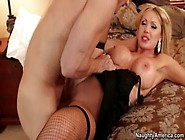 Busty Blonde Nikki Benz Seduces Boyfriends Son,  Makes Him Eat He
