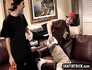 Skater Stud Getting Spanked With A Hand And A Paddle