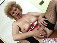 Blonde Granny Stroking Clit Pussy Licked Sloppy