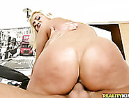 Bubble Butt Blonde Rides Her Man's Dick Like A Cowgirl