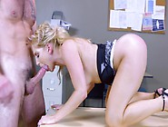 Nude Ashley Fires Jizzed On Face During The Work Program