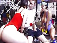 Hot Gym Babe Threesome