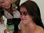 Skinny Girls Dipped Their Tits In Choco