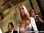Cute Blonde Alysha Rylee Gangbanged By Black Cocks By Shewentbla