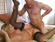 Lovely Blonde With Nice Ass Fucks A Big Hard Cock.