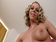 Curly Haired Blonde Honey Gives A Super Hot Handjob And Gets Cre