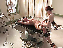 Naughty Doctor Strapon Fucks The Dominated Blonde In The Hospita