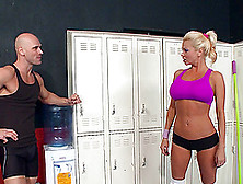 Sporty Nikita Von James Fucked By Her Trainer After A Workout