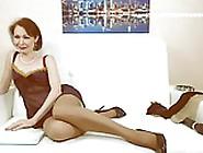Wm 207 Mature Suntan Nylons Legs Heels & Feet