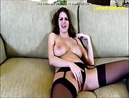 Hot Sexy Blonde Babe Masturbating Her Pussy On Webcam