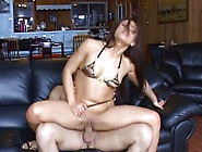 Torrid Bitch Ayna Oso Riding Fat Ass Cock In A Cowgirl Position