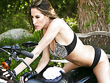 Kortney Kane Takes All Of Her Clothes Off And Swallows A Big Thr