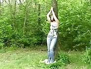 Forest Bondage With Obedient Czech Hottie Hazel Powershotz And H