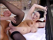 Hot Pregnant Babe In Stockings Licked And Fucked