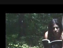 Girl Pooping And Farting In The Woods
