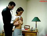 Busty Teen Getting Her Tits Rubbed Ass Spanked To Red By The...