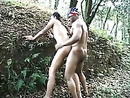 Interracial Gay Studs Are Outside In Nature Drilling Buttholes
