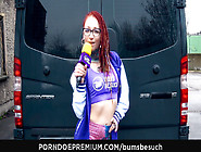 Bums Besuch - Cute German Amateur Vanda Angel Bound And Banged
