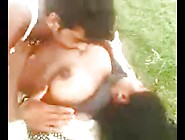 Indian Couple Frolic Outdoors