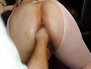 Pussy Fucked With Dildos And Fisted From Behind