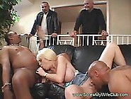 Interracial Anal Threesome With Blonde Swinger Wife