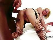 Black Monster Cock Fucks Blonde Milf Mom In Lingerie
