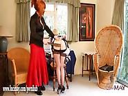 Naughty Smoking Blonde Tgirl Maid Has Tight Ass Spanked As Kinky